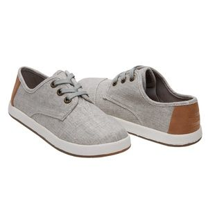 (TOMS) Drizzle Grey Coated Linen Paseo Shoes